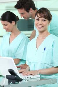 Portrait d'une assistante médicale